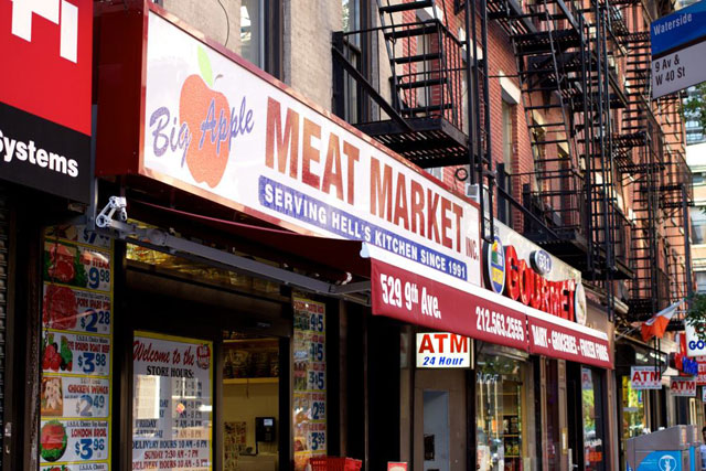 The Big Apple Meat Market's current store