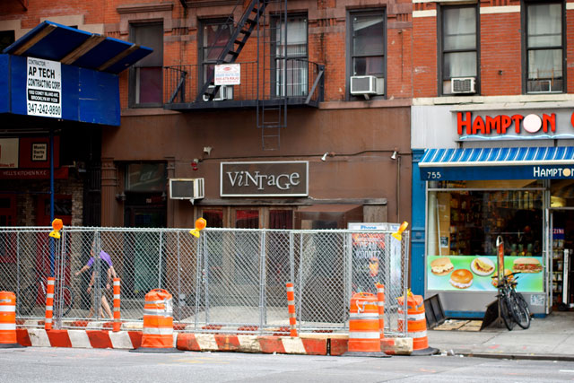The exterior of the closed Vintage back in June