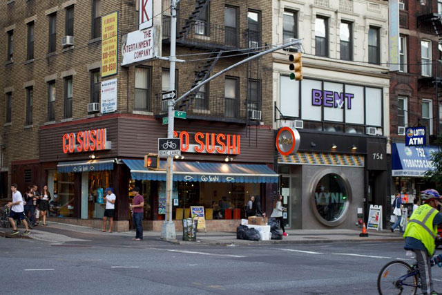 Vynl's current store, and the neighboring Go Sushi store they hope to move to