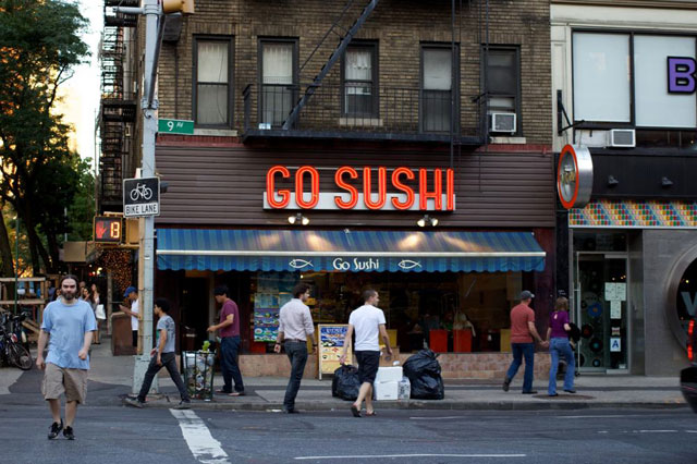 The outgoing Go Sushi's exterior