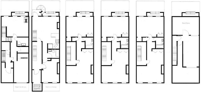 The floorplan for 458 W 50th St