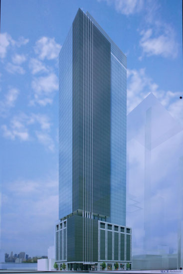 The rendering of the planned tower at 41st & 10th