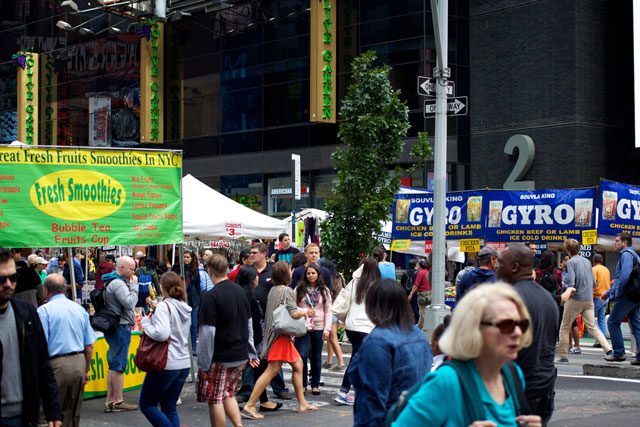 The street fair on Broadway