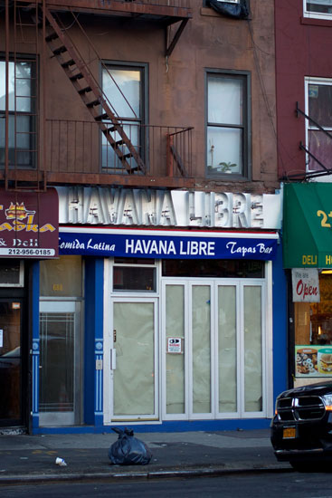 The exterior of the Havana Libre before opening