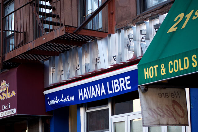 The signage of the incoming Havana Libre