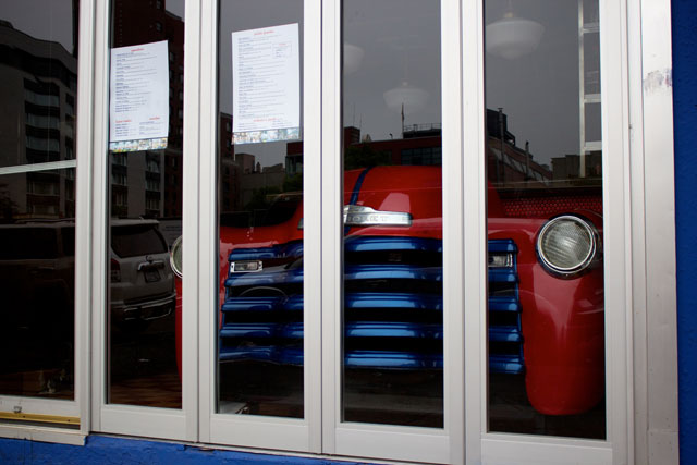 The car in the windows of Havana Libre