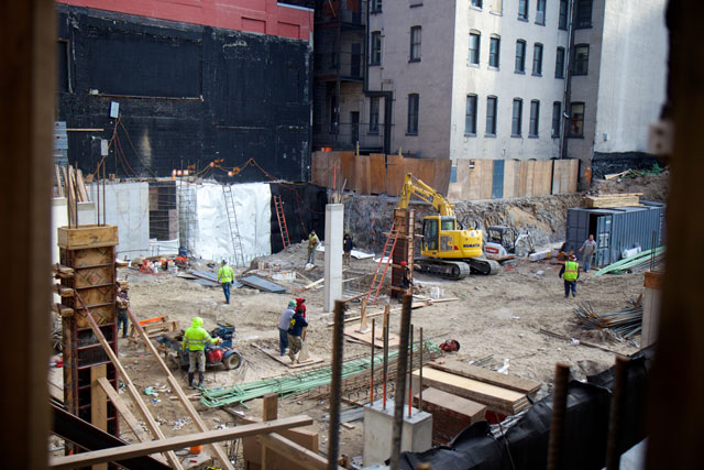The construction site of 540 West