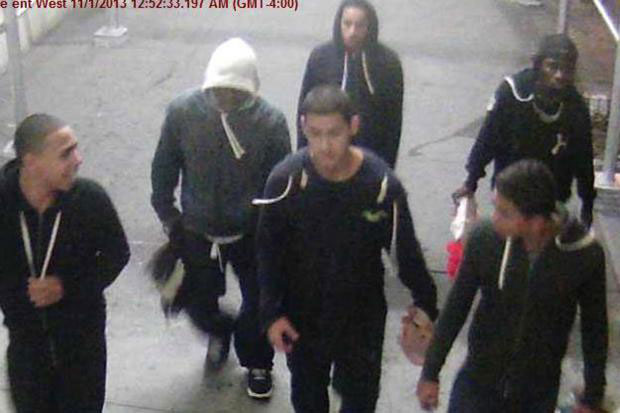 Six of the alleged suspects from the assault