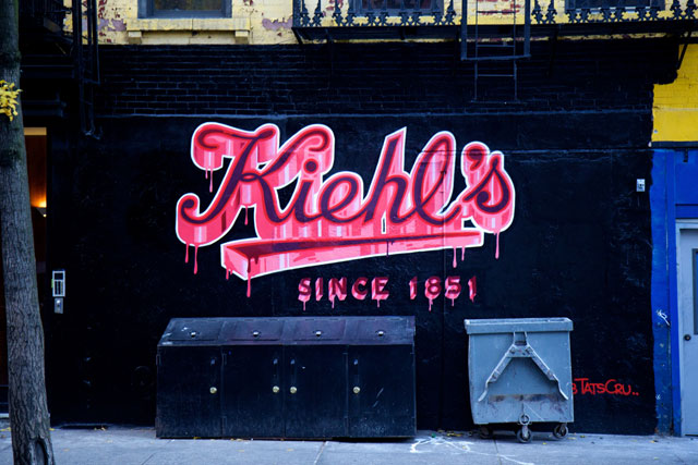 The Tats Cru mural for Kiehl's
