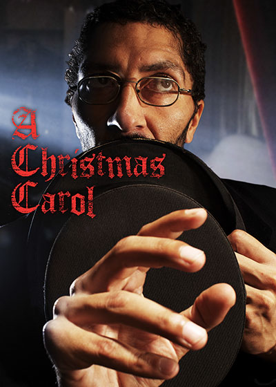 An official promotional poster for the performance of A Christmas Carol