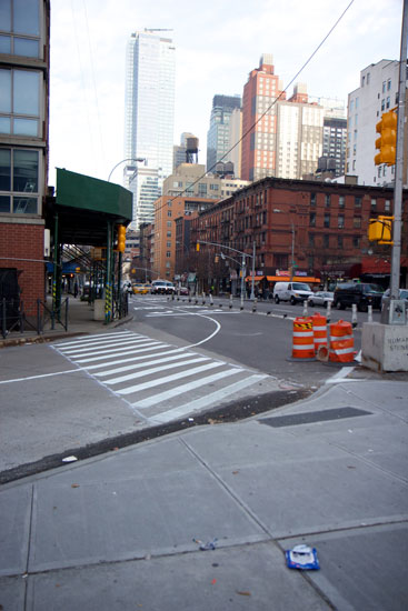 The new crossing at W 36th St & 9th Ave