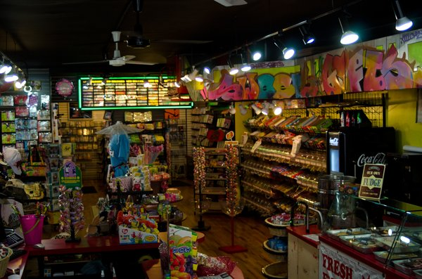 The interior of Sweet Gifts at Video Cafe