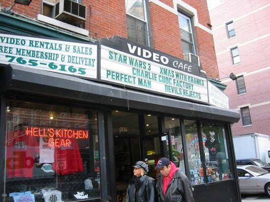 The original signage at Video Cafe