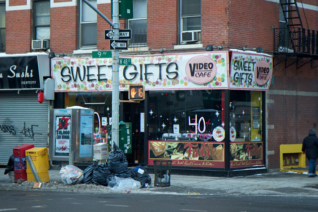 The exterior of Sweet Gifts at Video Cafe