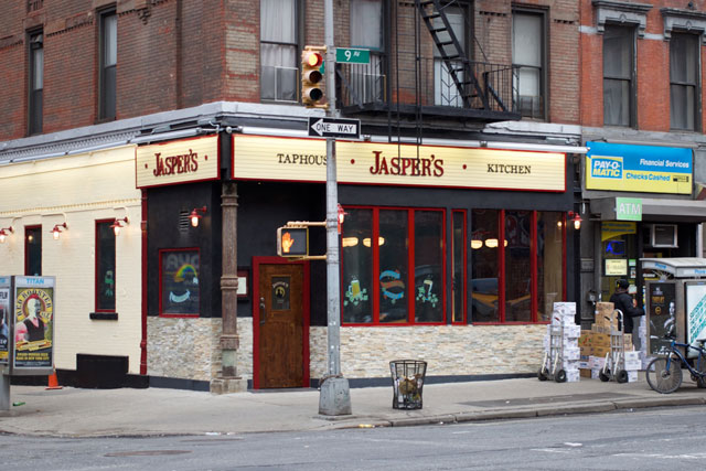 The exterior of Jasper's Taphouse