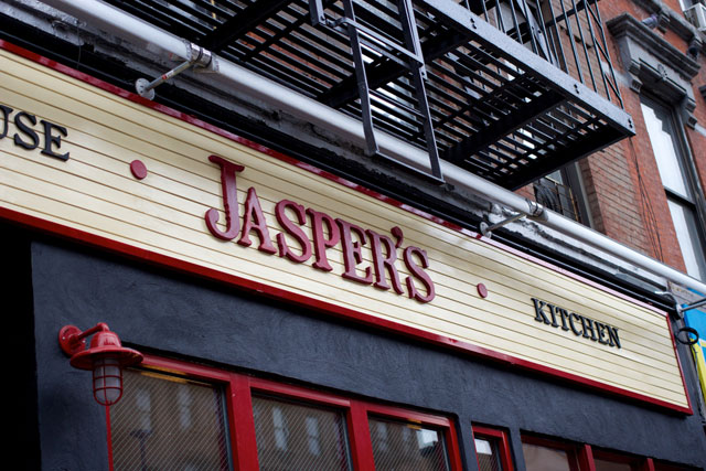 The signage at Jasper's Taphouse
