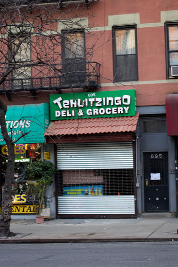 The exterior of Tehuitzingo on 10th Ave