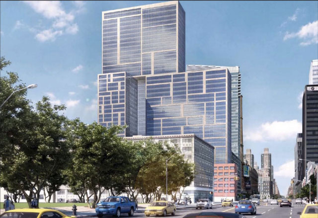 A rendering of the development at 606 W 57th St