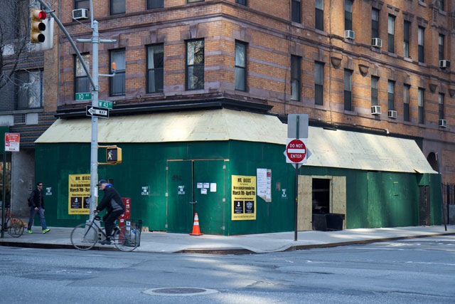The exterior of Mr Biggs while under renovations