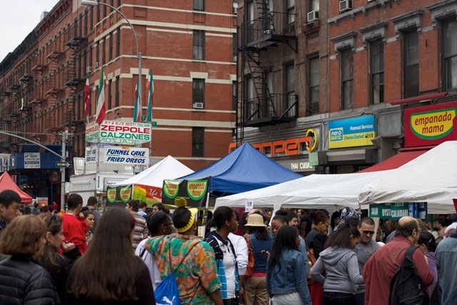 The crowds at the 2013 9th Ave International Food Festival