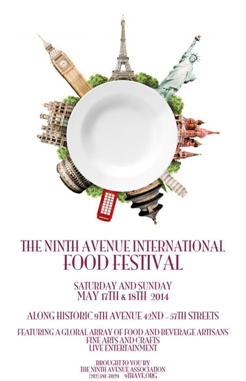 The 9th Ave International Food Festival flyer