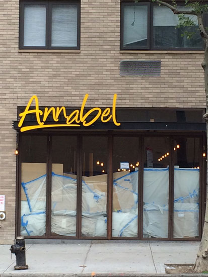 The exterior of the incoming Annabel