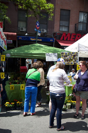 The W 45th-46th St Block Association stall at the food festival