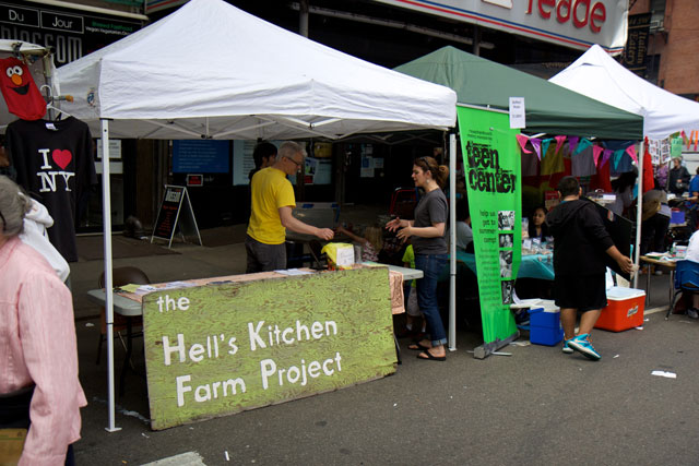 The Hell's Kitchen Farm Project stall at the food festival
