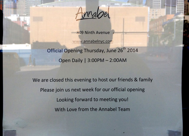 The opening notice for the incoming Annabel
