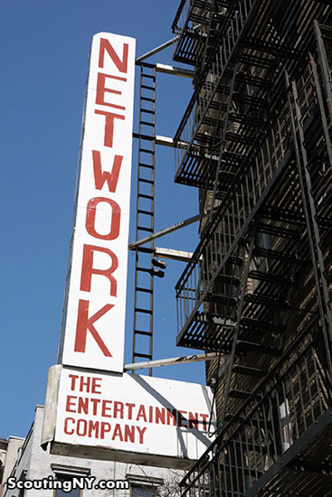 The full 'Network - The Entertainment Company' sign