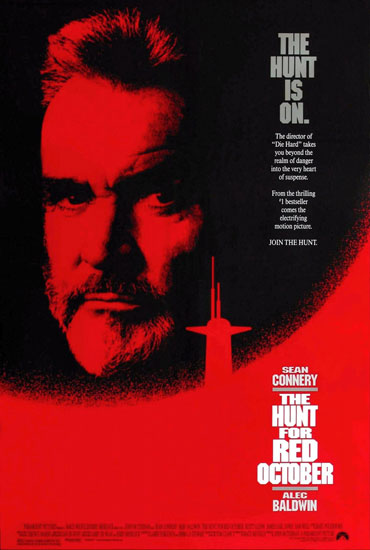 The poster for The Hunt for Red October