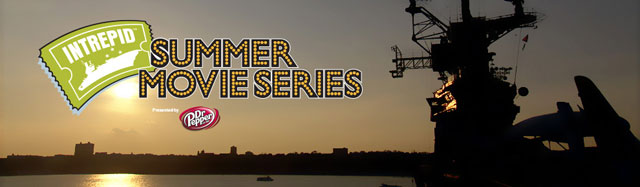 The banner for the Intrepid's Summer Movie Series