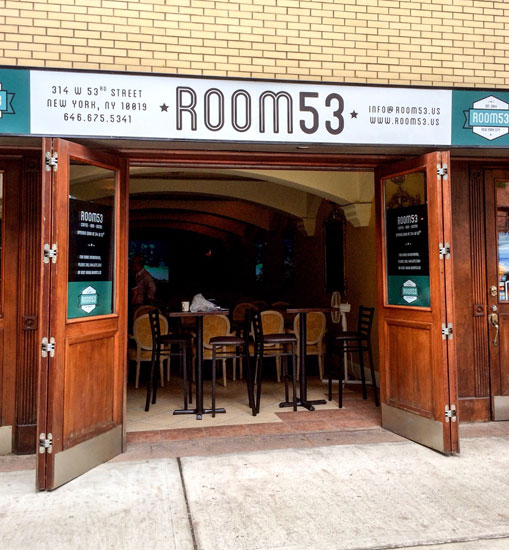 The storefront of Room 53