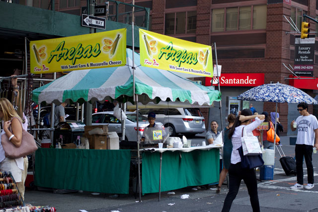 An arepas stall at the 8th Ave street fair