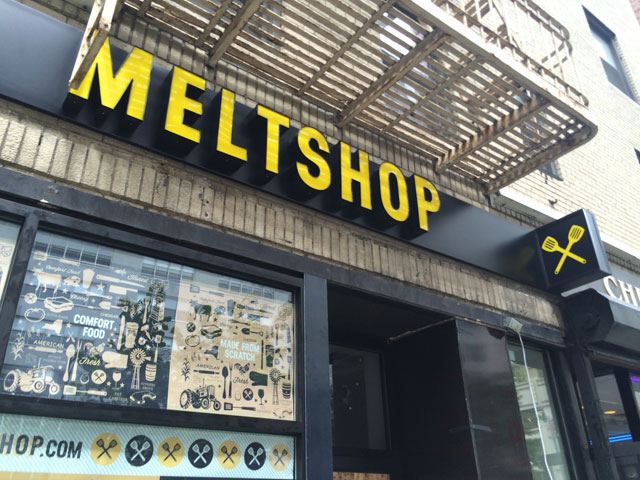 The signage for the incoming Melt Shop